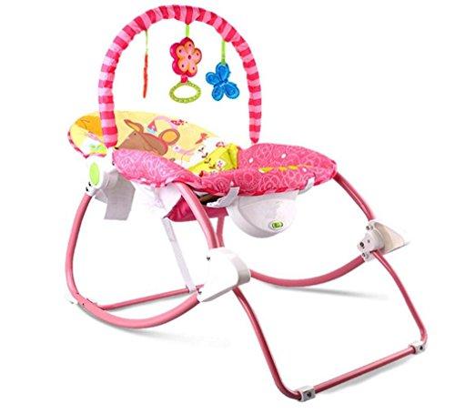NWYJR Baby Wippe einstellbar Neugeborenen Vibration bequem elektrische Multifunktions faltbare Musik Swing Bouncer , red (Bouncer Faltbar)