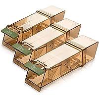 Gardigo 623583 Humane Mouse Trip-Trap Reusable No Kill Mice Live Catch Trap Capture 18 x 6 x 5 cm Indoor & Outdoor 3 Pack