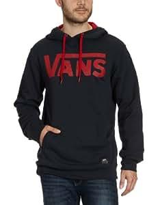 Vans - Classic - Sweat-shirt à Capuche - Coton - Homme - Bleu (Deep Navy/Rouge) - S