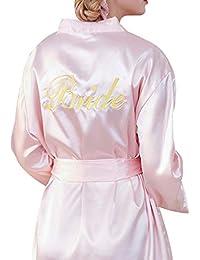 Hibote Vestido Noche Banquete Boda Vestido Noche Vestido Boda Novia Bordado Bata Túnica Kimono