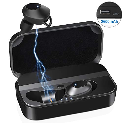 Bluetooth Kopfhörer - 120 Stunden Spielzeit Sport Ohrhörer 2600 mAh mit Mikrofon In Ear Bluetooth 5.0 wasserdichte IPX7 Kabellose