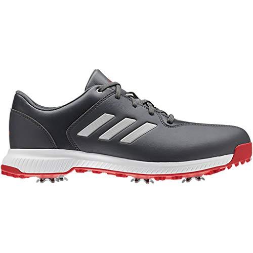 adidas Herren Cp Traxion Golfschuhe, Grau (Blanco/Rojo/Gris Bb7905), 42 EU