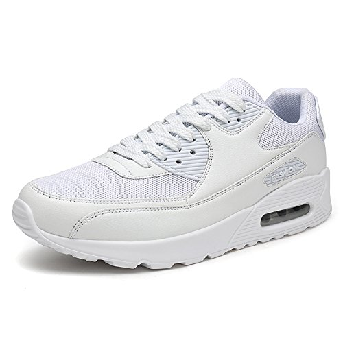 Young & Ming Unisex Scarpe da Ginnastica Uomo Fitness Running Sneakers Donna Sportive Casual all'Aperto Leggera Tennis Scarpe da Corsa Bianco