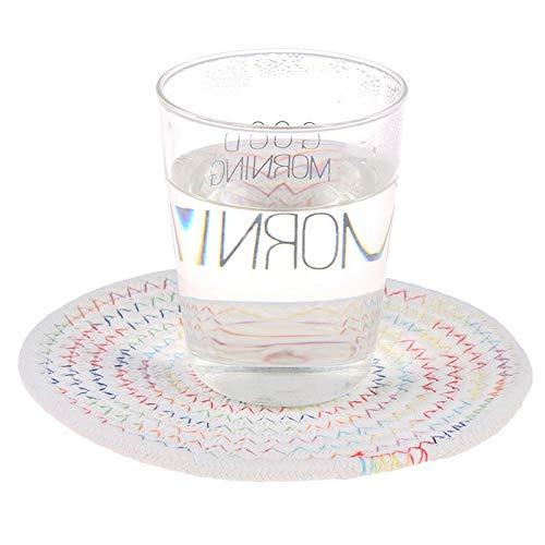 6a6b26deac7 Coaster Set - 11 20cm Placemat Pad Coasters Table Mats Cotton Linen  Knitting Bowl Padding Mat