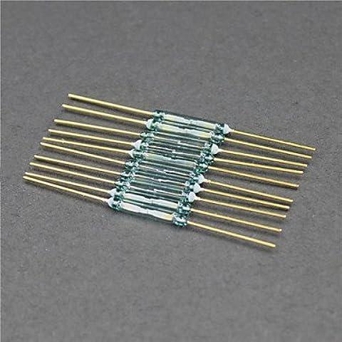 Reed / interruttore magnetico / formato di vetro - dorato + verde (10 pc / (Reed & Barton Vetro Tongs)