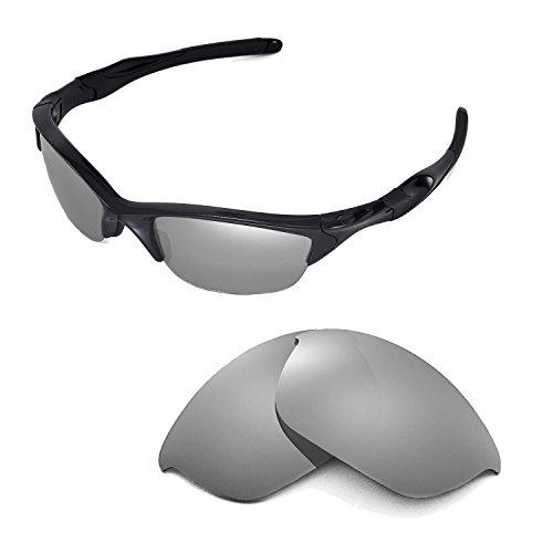 Walleva Ersatzgläser für Oakley Half Jacket 2.0 Sonnenbrille - Mehrfache Optionen (Titan)