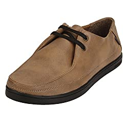 Quarks Mens Beige Synthetic Smart Casual Shoes J1125BR-9