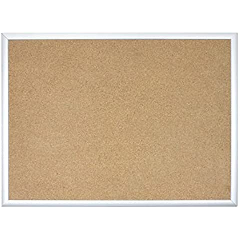 U Brands Basics Cork Bulletin Board, 35 x 23 Inches, Silver Aluminum Frame by U Brands