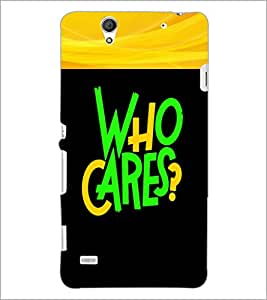 PrintDhaba Quote D-2681 Back Case Cover for SONY XPERIA C4 (Multi-Coloured)