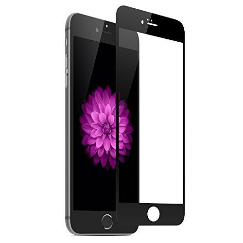 Preisvergleich Produktbild EQLEF® Bunte ausgeglichenes Glas-Schirm-Schutz-Film für Apple iPhone6 (4,7 inch) / iphone6 PLUS (5,5 Zoll), komplett Vorderseite Körper Cover, Anti-Verkratzen, Anti-Blase, Anti-Fingerprint, Keine Regenbogen-Bildschirm, für die Vorderseite (Iphone6 black)