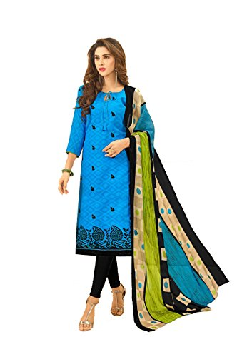 Shree Ganesh Retail Womens Cotton Jacquard Churidar Salwar Kameez Unstitched Dress Material...