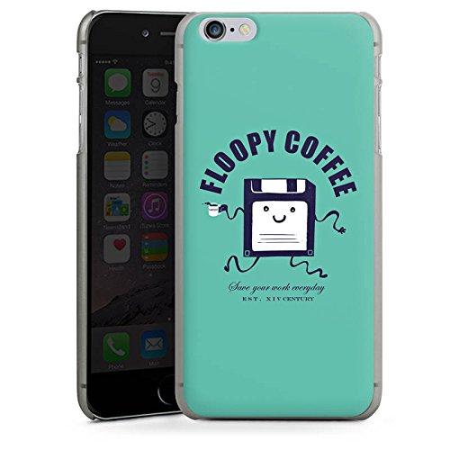 Apple iPhone X Silikon Hülle Case Schutzhülle Floppy Disc Kaffee Smiley Hard Case anthrazit-klar