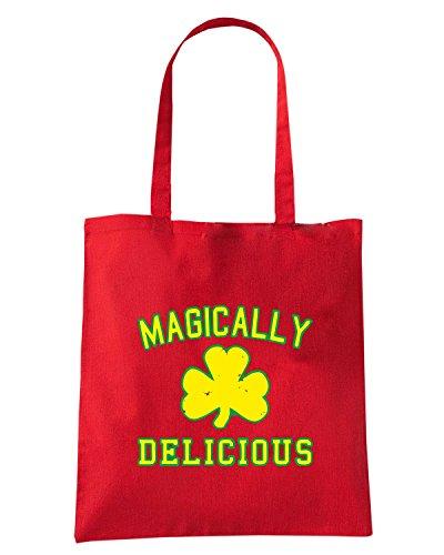 T-Shirtshock - Borsa Shopping TIR0145 magically delicious green tshirt Rosso