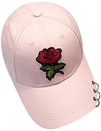 Amlaiworld Gorras Gorras Beisbol Verano de Malla Sombreros para Hombre Mujer  Rosa Sombrero Plano Hip Hop Snapback ba60db683a3