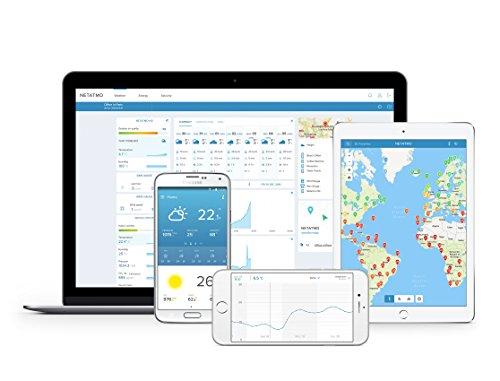415C1S1rFEL [Bon Plan Netatmo] Netatmo Station Météo Intérieur Extérieur Connectée Wifi pour Smartphone - Capteur Sans fil - Thermomètre, Hygromètre, Baromètre, Sonomètre, Qualité de l'air - Compatible avec Amazon Alexa
