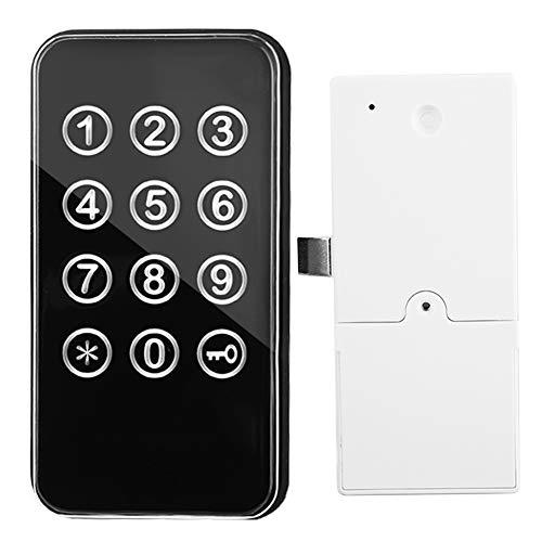 Access Control System Zink Legierung Elektronischer Digital Schrankschloss Codeschloss Verschluss Zwei Entsperrungsmöglichkeiten durch Berührungstastatur/Passwort Access Control Device