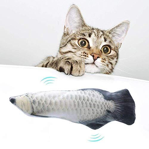 GB4 Kingdo66 Elektrische Fische Katze, USB Elektrische Plüsch Fisch, Katzen Zahnbürste, Katze Fischform Zahnbürste, 3D Fisch Katzen Spielzeug Interaktive Geschenke Fisch Katzenminze Spielzeug (D)