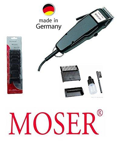 Rotschopf24 Edition: Moser Profi Haarschneider+ 6 Kunststoff-Aufsteckkämme. Made in Germany! 43139