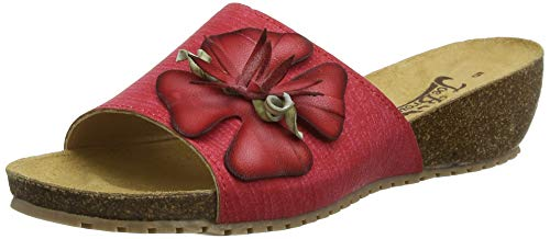 Joe Browns Damen Honolulu Leather Sandalen, Rot (Red Multi A), 36 EU