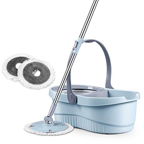 Yiiy pulitore per la casa con secchio per la pulizia del secchio da 360 gradi con due teste di scopa