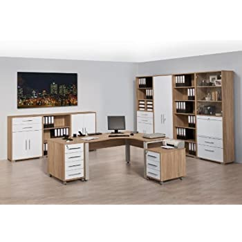 Arbeitszimmer Büromöbel MAJA SYSTEM 1207 Komplettset in Eiche Sonoma ...