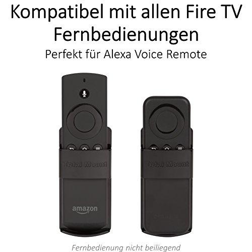 Innovelis TotalMount Halterung für Amazon Fire TV Fernbedienung und Alexa Sprachfernbedienung | Kompatibel mit mit Allen Fire TV Fernbedienungen | Schwarz