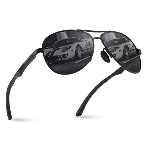 (CGID Polarisierte UV400 Schutz Prämie Al MG Metall Rahmen Pilot Sonnenbrille Pilotenbrille Für Herren GA61)
