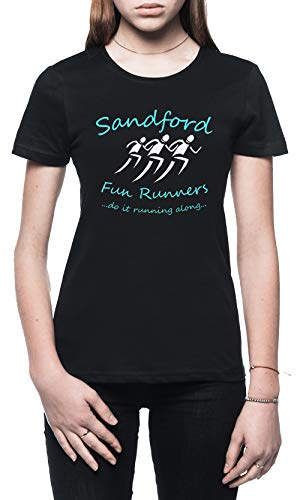 Sandford Fun Run Damen T-Shirt Schwarz Größe XL - Women's T-Shirt Black - Hot Fuzz-t-shirt