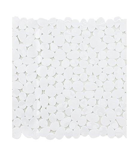 Badewanneneinlage Duscheinlage Duschmatte in Steinoptik - Weiß - ca. 53 x 53 cm - von Brandseller