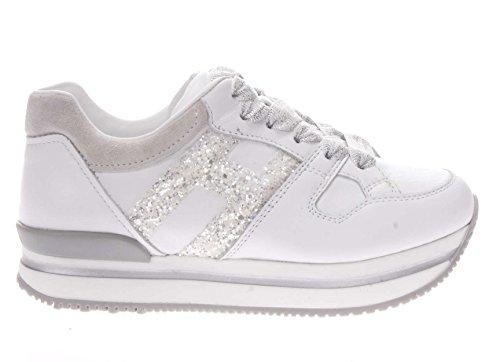 Hogan Junior Sneaker H 222 fustellata Bambina Bianco 32 Taglia Europea : 32 EU