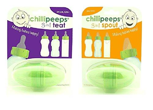 Preisvergleich Produktbild Bundle - Chillipeeps 3 In 1 Auslauf und Chillipeeps 3 In 1 Sauger - 2 LIEFERUMFANG (Versand aus UK)