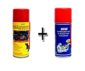 Swe Rat Repellent / Guard For Cars + Swe Car Engine Carburetor, Chock, Injector And Throttle Body Cleaner 200Ml