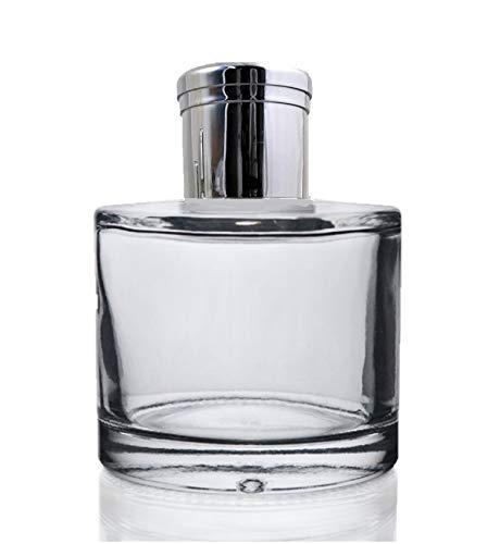 Bouteille transparente diffuseur de parfum à bâtonnets de roseau 100 ml