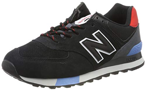 New Balance 574v2, Zapatillas para Hombre, Negro (Black/Red Black/Red), 43 EU