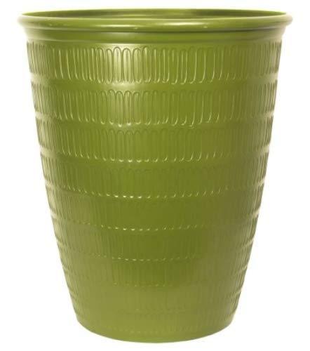 Muddy Hands Green Tea Tiki Tall Round 22.4 Litre Large Plant Pot Outdoor Garden Planter