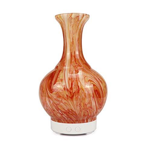 FFairy Aromatischer ätherischer Öl-Diffusor, Ultraschall-Kühnebel/Heimmute/3D-Glas/7 Farblampe Hausbefeuchter für zu Hause/Büro/Schlafzimmer/Spa