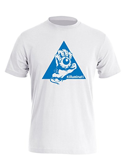 Illuminati Killuminati Faust - Herren TShirt Weiß / Blau