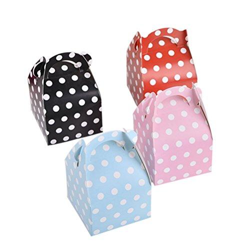 TOYMYTOY Geschenkschachtel Punkt Papier Geschenkbox Süßigkeiten Verpackung für Hochzeit Weihnachten Geburtstag Mitbringsel 20 Stücke