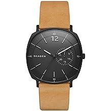 Skagen eysse-reloj analógico de cuarzo de cuero SKW6257