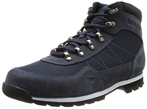 Timberland Euro Hiker Fabric with Leather, Baskets mode homme Bleu (Blue)