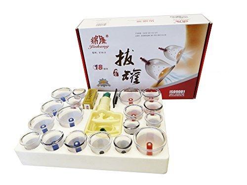 HQ rukauf 18 pcs médicale chinoise vide Massage ventouses de soins de santé (incl. charnière ventouses) - cupping