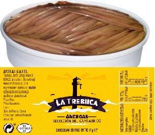 Tarrina de Anchoas Cantabrico de 40 Filetes