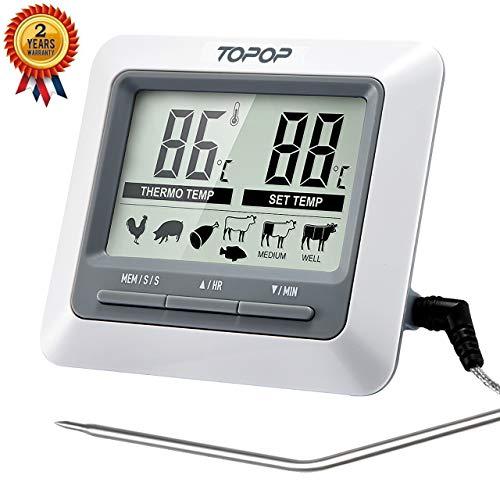 Fleischthermometer Grillthermometer Ofenthermometer Bratenthermometer Barbecue Smoker Grill Thermometer Mit LCD-Display Für Das Kochen BBQ Backofen / Fleisch / Pute / Steak