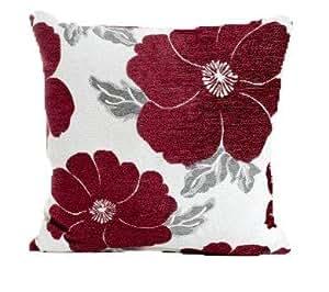"Aubergine Poppy Cushion Cover 18"" x 18"""