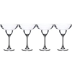 BarCraft Plastic Margarita Cocktail Glasses, 250 ml (9 fl oz) (Set of 4)