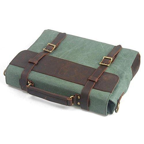 Männer multifunktionale Schulter Messenger Tasche Europa und die Vereinigten Staaten Retro Leinwand Tasche portable Aktenkoffer coral green