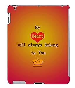 Fuson 3D Printed Love Designer back case cover for Apple iPad 3 - D4527