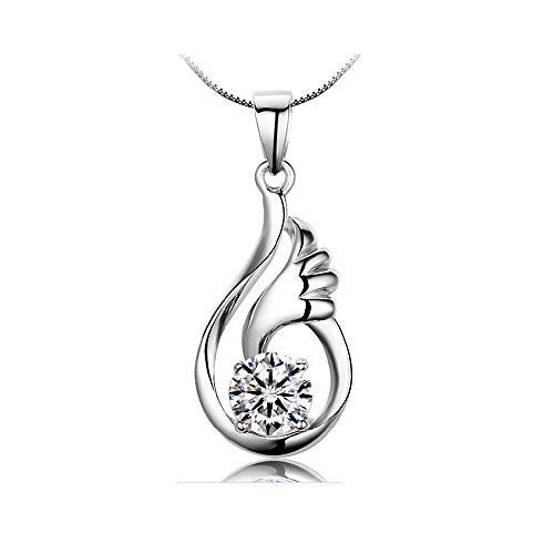 Collana d'argento con pendente S925 da donna Gioielli by Bravetzx