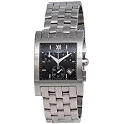 Longines Dolcevita l56684756 Quartz Watch (Rechargeable) quandrante Black Strap Stainless Steel