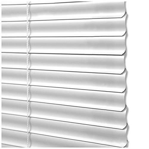 CHENHZ-Veneziana in alluminio,Vita Privata Tapparelle Impermeabile Blinds Protezione UV Isolato Termicamente for Sala Riunioni Bagno, Dimensioni Personalizzabili (Color : White, Size : 65x130cm)